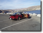 Terry's Porsche at Grand Coulee Dam,  Sep. 2011